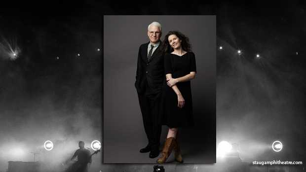 Steve Martin: Steve Martin and the Steep Canyon Rangers Featuring Edie Brickell will play the St. Augustine Amphitheater at 6 p.m. Sunday. Tickets range from $40 to $90.