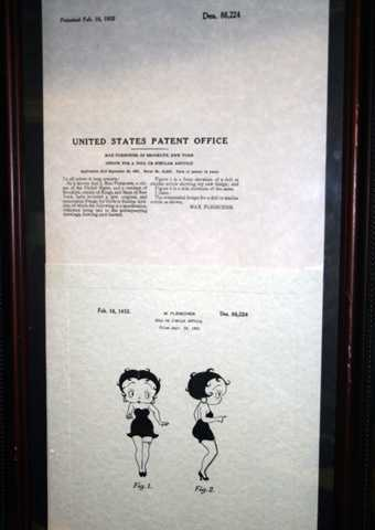 11. The original patent for Betty Boop