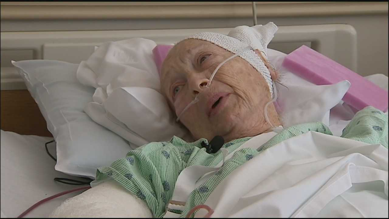 An 89-year-old woman who was attacked by a dog speaks only to WESH's Gail Paschall-Brown.
