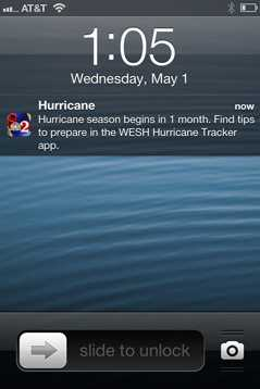 Receive optional push alerts on iOS and Android with important information during storm season.