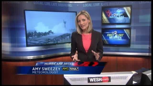 How could storm surge change Central Florida coast?