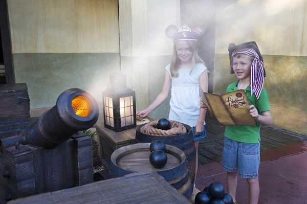 The interactive quest allows guests to turn into one of Captain Jack's pirate recruits, arms them with magic talismans and treasure maps, and lets them embark on one of five different pirate raids throughout Adventureland.
