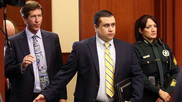 "George Zimmerman appears in court for a hearing to discuss ""Stand Your Ground"" on April 30, 2013."