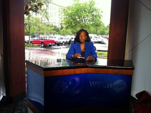 The first live shot from the WESH 2 studio.