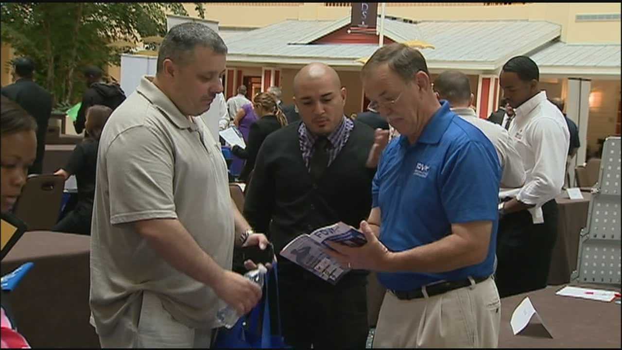 A job fair for military veterans and spouses is held in Central Florida.