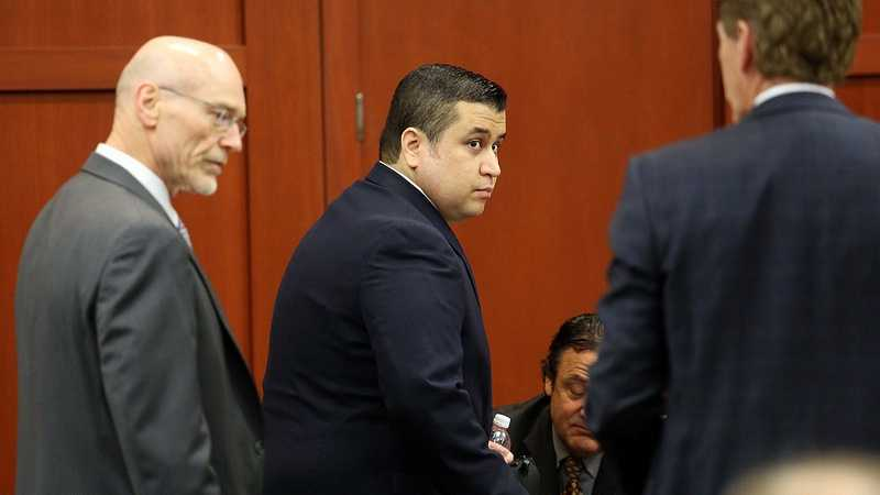 George Zimmerman arrives in Seminole circuit court on the first day of his trial, in Sanford, Fla., Monday, June 10, 2013. Zimmerman is accused in the fatal shooting of Trayvon Martin. (Joe Burbank/Orlando Sentinel)