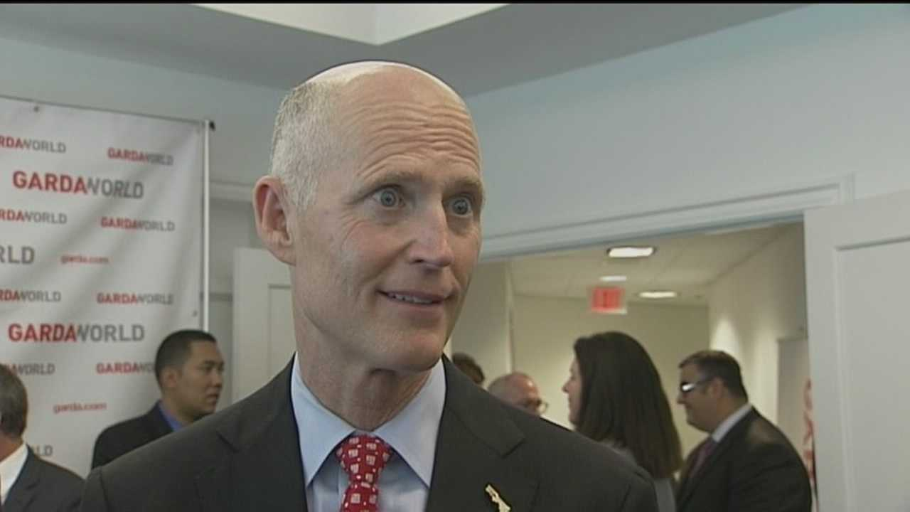 Gov. Rick Scott is citing the successful relocation of GuardaWorld from California to Boca Raton as proof that Florida is a great place to start a business and build a home.
