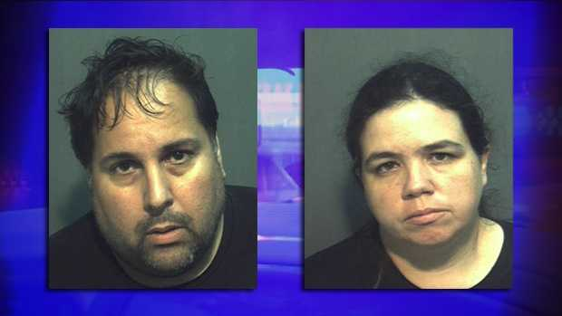 Israel Abraham (left) and Jessica Anikel face animal cruelty and child neglect charges.