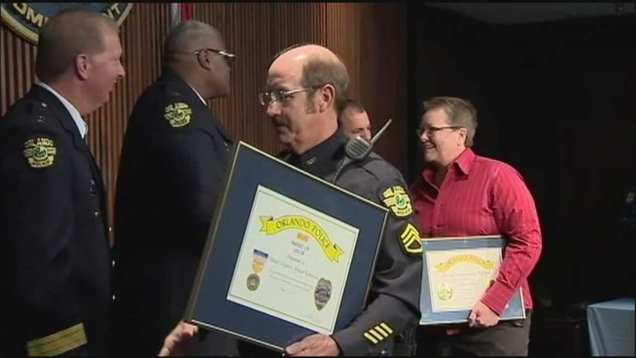 Orlando Police Department officers were recognized along some residents as heroes on Wednesday.