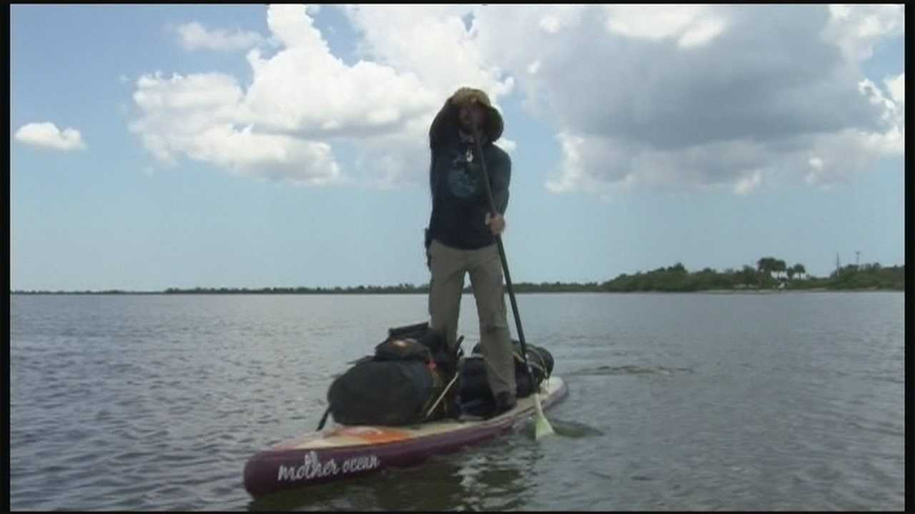 A man is raising awareness about waterway cleanup by traveling throughout the Sunshine State on his paddleboard.