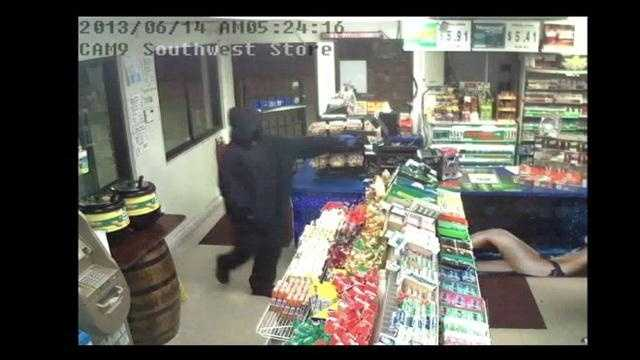 Raw Video: Armed person holds up Ocala business