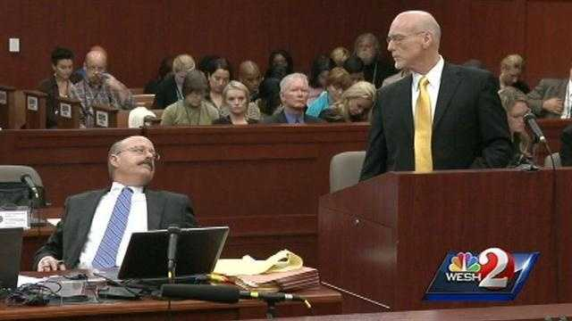 George Zimmerman's defense attorney Don West stopped his questioning during jury selection and stared down prosecutor Bernie de la Rionda. It appeared to have something to do with de la Rionda leaning back in his chair.