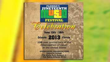Juneteenth Music Festival: Celebrating the 150th anniversary of the Emancipation of the slaves in the United States, this music fest takes to to Valencia College West on Kirkman Road all weekend.