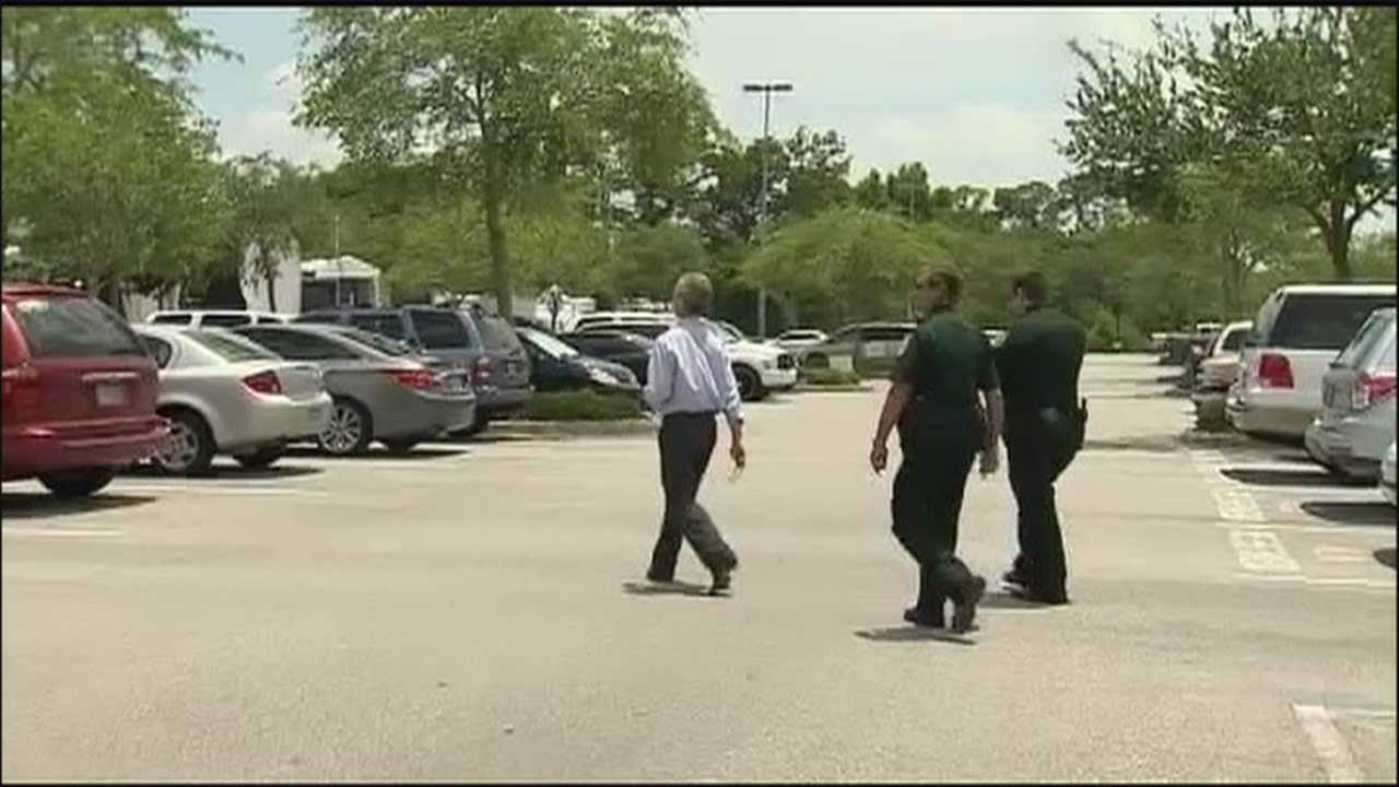 A former jury candidate for the George Zimmerman murder trial showed up at the courthouse in Seminole County on Friday and was escorted from the property by deputies.