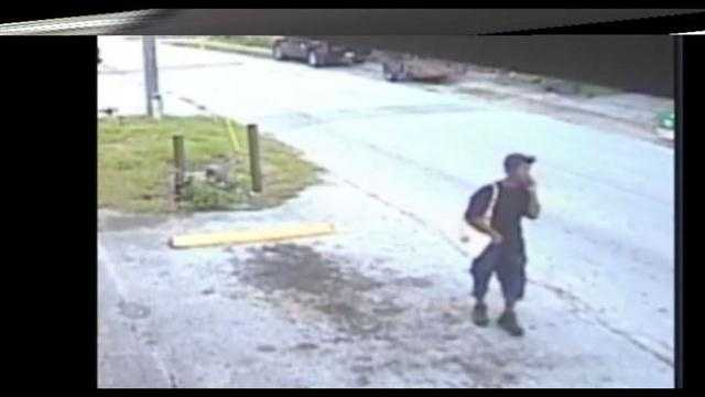 Raw Video: Person of interest walking along road