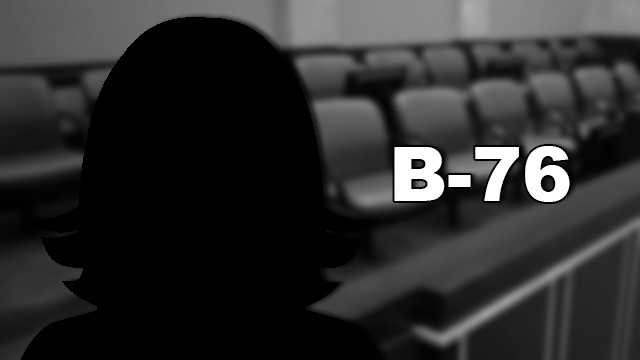 B-76 is a white woman who ran out of room writing what she knew about the case on the trial questionnaire. She says, however, that she has not formed an opinion about the case.