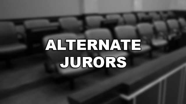 Four alternate jurors were also chosen -- two men and two women.