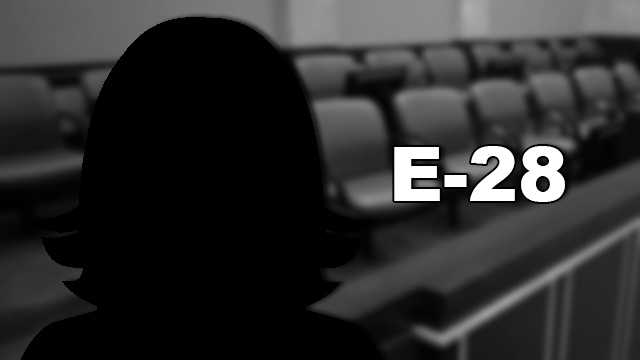 "E-28, a middle-aged white woman, has lived in Seminole County since 1985 and has been married 29 years. ""When it comes on, we turn it off,"" she said about the case. She has previously served on a jury for a civil case involving a swimming pool."