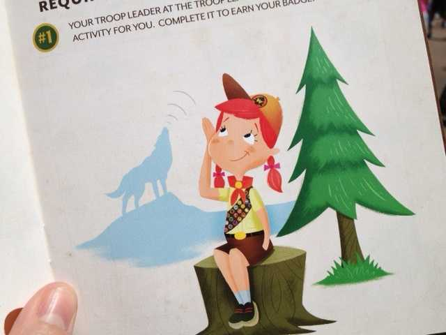 """Explorers troop leaders are located throughout the park to enlist new explorers, distribute the """"Wilderness Explorers Handbook,"""" which contains a map with all of the badge locations and requirements, and teach the wilderness explorers call – """"the wilderness must be explored!"""""""