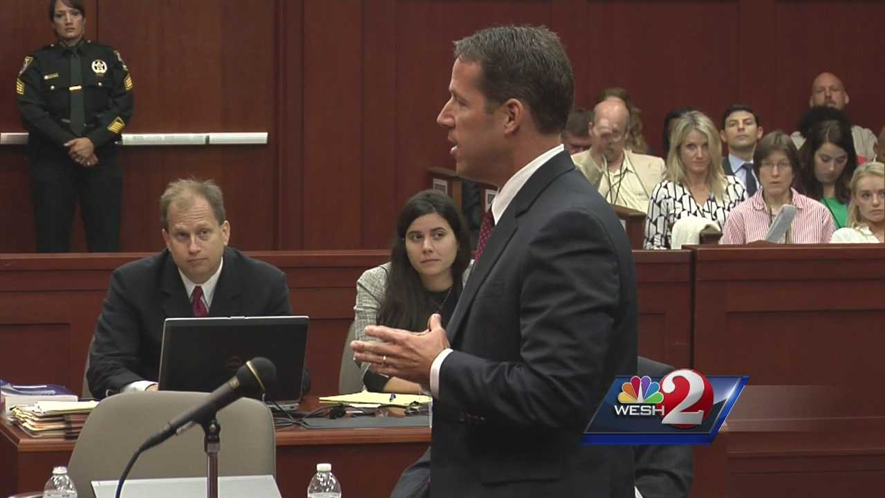 State prosecutor John Guy delivers the prosecution's opening statement in the George Zimmerman trial. Zimmerman is charged with second-degree murder in the death of Trayvon Martin.