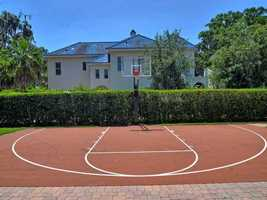 Last but not least, the home's very own basketball court. For more information about this property visit Realtor.com.