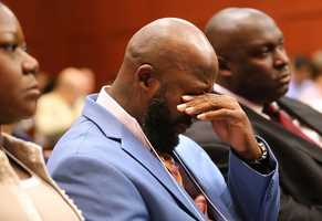 6. Martin's parents get to stay in the courtroom. As long as Zimmerman's parents are on the witness list, they cannot.Benjamin Crump, the Martin family attorney, along with George Zimmerman's parents, will not be allowed in court until they testify. There is a law that prevents witnesses from being present.
