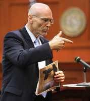 "3. State, defense differ on how close gun was to MartinState attorneys say that it was a contact shot, while the defense claims that the only thing contacting the gun was Martin's sweatshirt, not his actual body. The defense went on in an elaborate explanation of how such would be possible if, as they think, Martin was on top of Zimmerman in a mounted, ""ground and pound"" position."