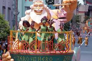 This 14-minute parade celebrated Walt Disney Pictures' 35th animated movie.