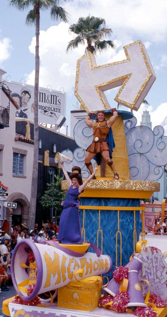 "Take a lookback in time at the Hercules ""Zero to Hero Victory Parade"" rolling through Hollywood Studios 16 years ago this month."