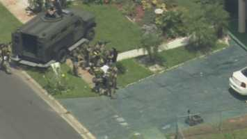 A man surrendered to authorities after a SWAT standoff at a West Cocoa home Wednesday morning.