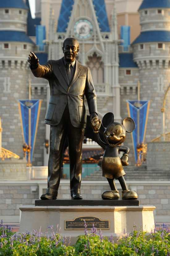 "When considering having Mickey hold Walt's hand, Blaine consulted footage from the film ""Fantasia,"" in which Mickey shakes the hand of orchestra conductor Leopold Stokowski."