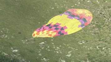 A hot air balloon crashed into power lines in Lake County Thursday morning.