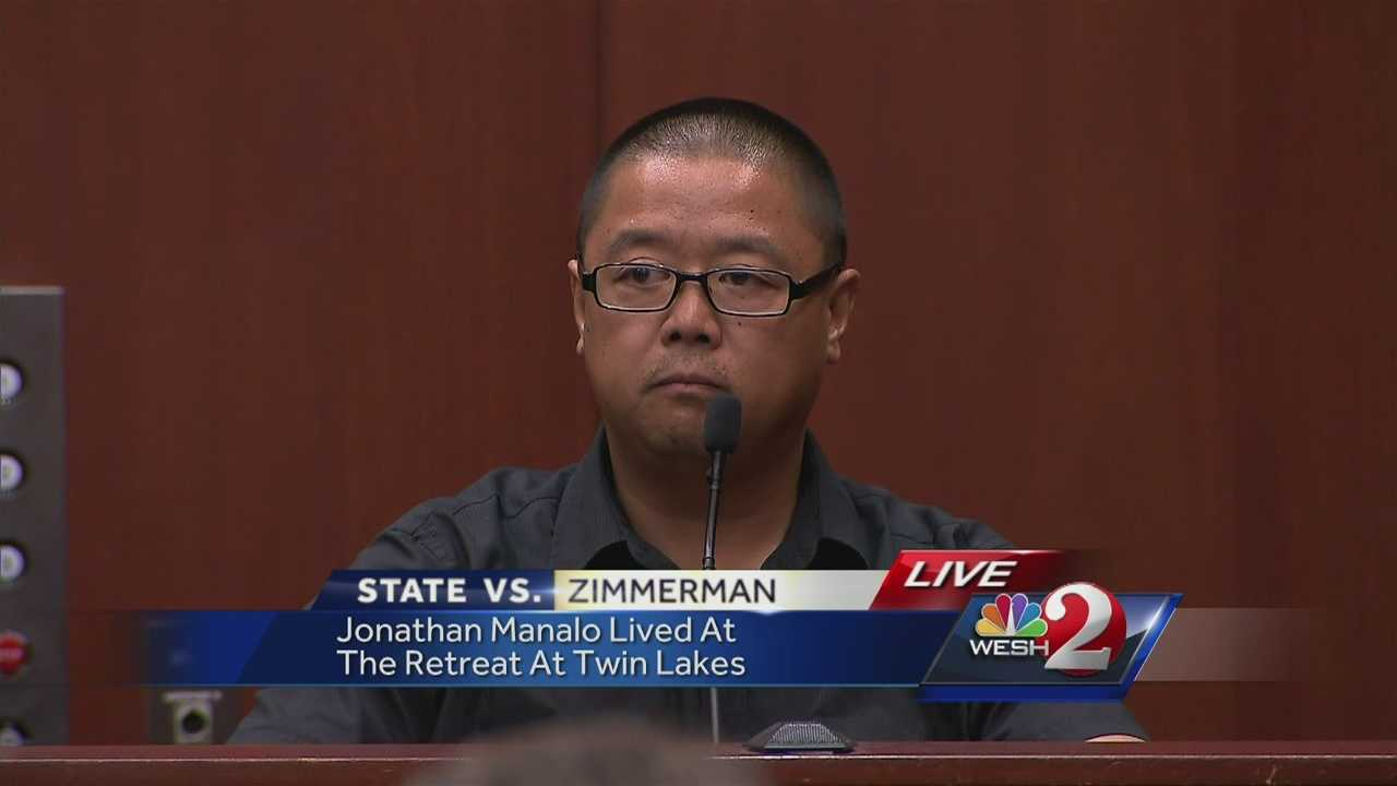 "A witness who talked to George Zimmerman after he shot Trayvon Martin took the stand Friday. He said Zimmerman asked him to call his wife and ""just tell her I shot someone."""