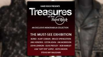 Treasures of the Hard Rock: A roving memorabilia exhibit is at Hard Rock Hotel Orlando until July 5. Items that belonged to Michael Jackson, John Lennon and Whitney houston are on display.