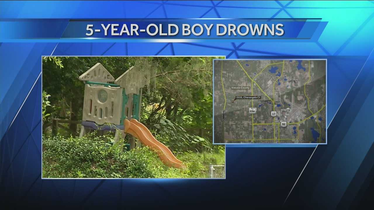 A 5-year-old boy drowns in a swimming pool near DeLand.