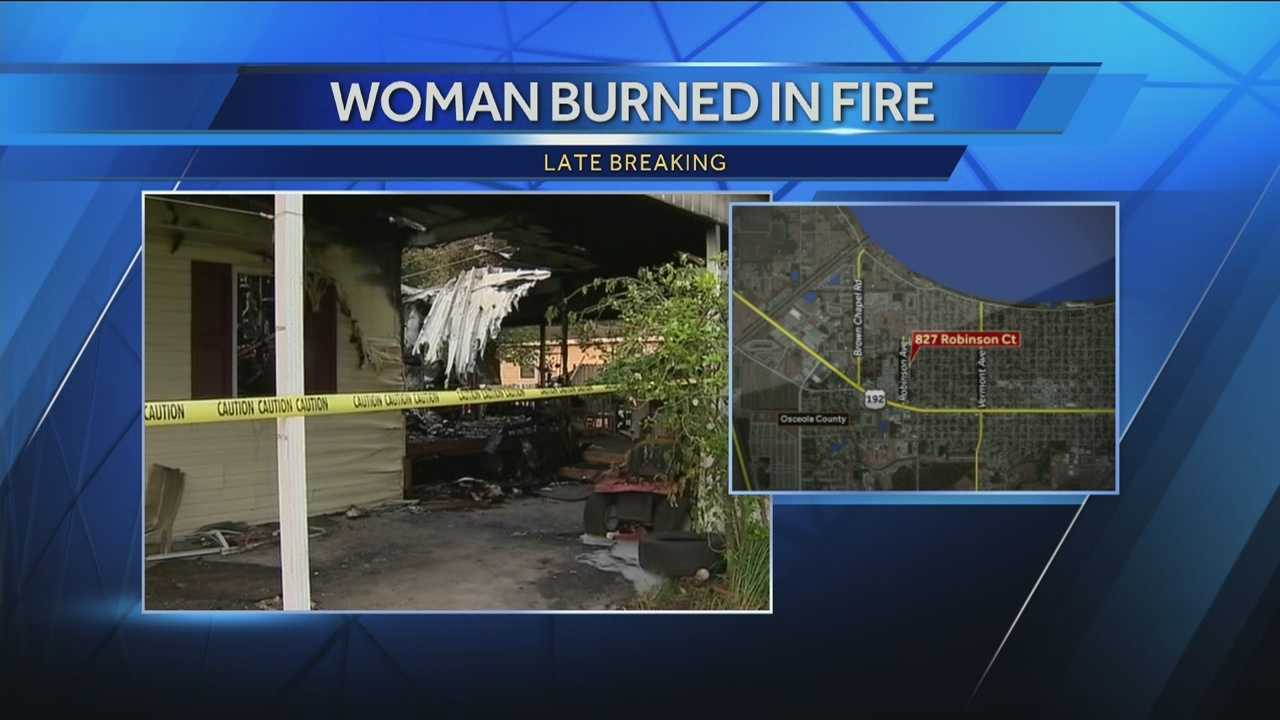 A fire broke out in St. Cloud on Saturday, leaving a home heavily damaged and its homeowner injured.