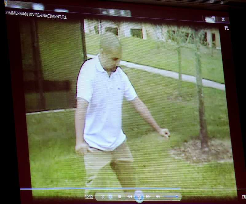 1. George Zimmerman's version of events told in courtGeorge Zimmerman has not taken the stand, but his full version of the events has now been heard by jurors. Audio and/or video was played from four interviews with Sanford police, including a reenactment at the scene of the shooting.