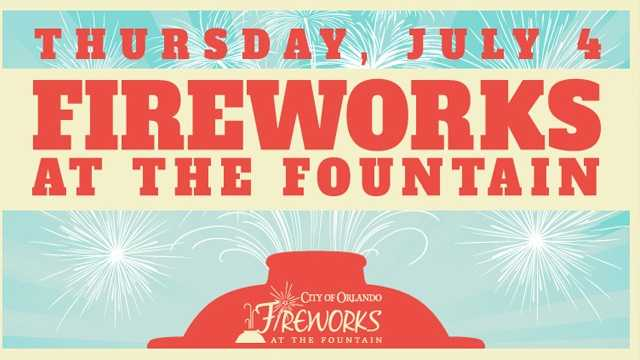 Fireworks at the Fountain: The City of Orlando celebrates the Fourth of July at Lake Eola. The free event features the city's biggest fireworks show and live entertainment. The fireworks begin at 9 p.m.