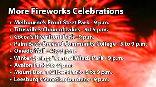 Several additional community events are planned. Most fireworks displays are also accompanied with food and music.