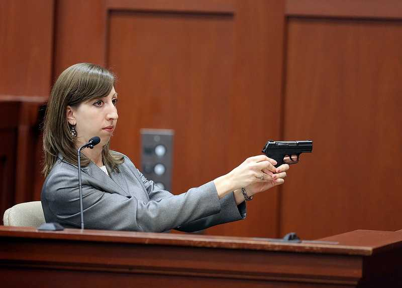 """2. Firearms expert: Trayvon Martin died from contact shotAn FDLE firearms specialist testified that Zimmerman's gun was loaded with eight bullets, one in the chamber, before he shot and killed Martin. Amy Siewert said the shot that killed Martin was a """"contact shot,"""" meaning the barrel of the gun was touching Martin's clothes when it was fired."""