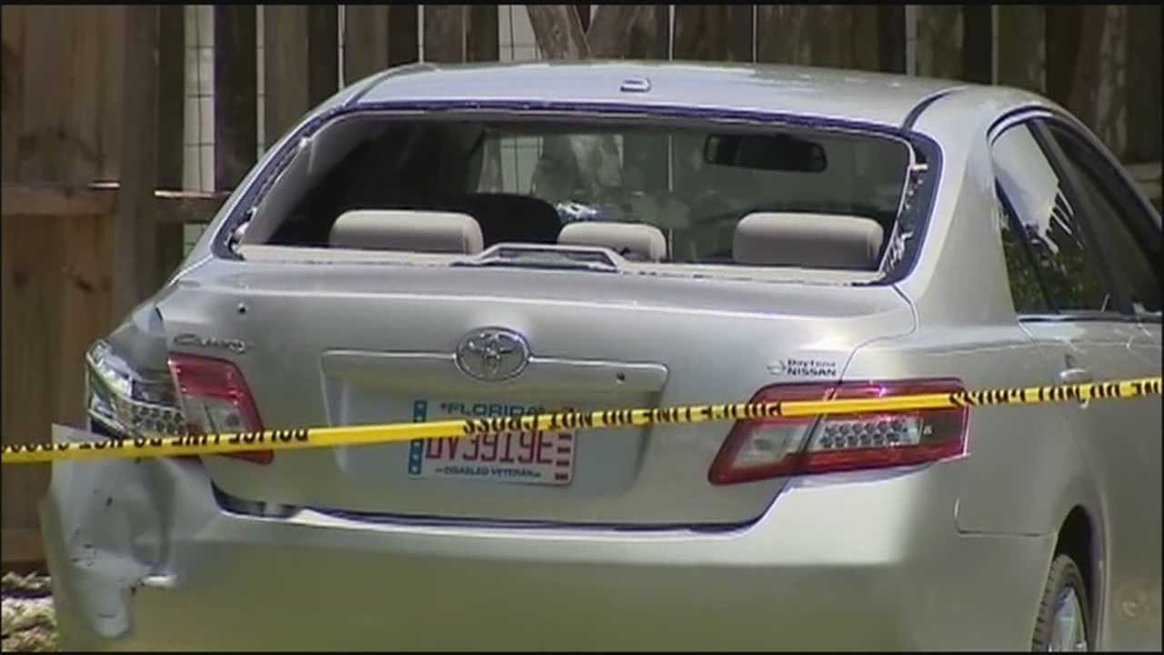A man was shot by police officers in Daytona Beach after he drove at them Thursday afternoon, police said.