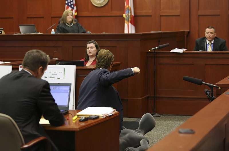 George Zimmerman trial in Seminole circuit court in Sanford, Fla. Wednesday, July 10, 2013. Zimmerman has been charged with second-degree murder for the 2012 shooting death of Trayvon Martin. (Gary W. Green/Orlando Sentinel)