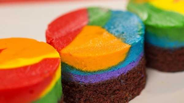 Tie-Dye Cheesecake