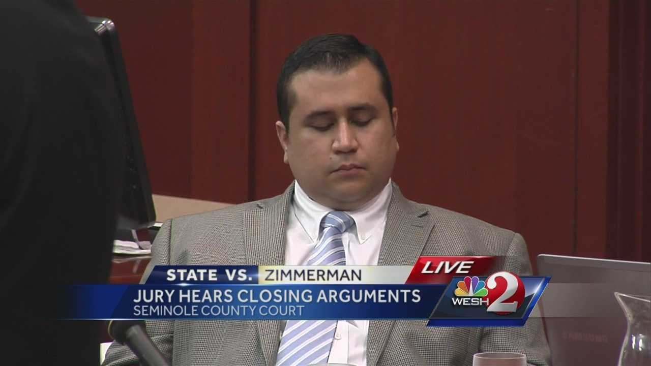 State prosecutor Bernie de la Rionda walked over to George Zimmerman at the end of his closing argument and said he was guilty of second-degree murder. Zimmerman shook his head.