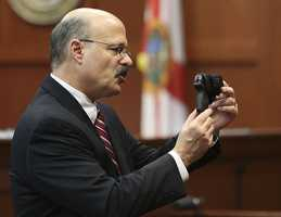 3. State attorney questions: how did Martin see the gun?Zimmerman told police that Martin was reaching for his gun. De la Rionda questioned how Martin was able to see the gun if it was on Zimmerman's backside and it was dark outside.