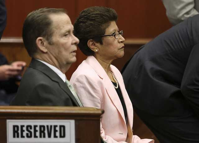 George Zimmerman's parents, Robert Zimmerman Sr. and Gladys Zimmerman are back in court for closing arguments in their son's trial in Seminole circuit court in Sanford, Fla. Thursday, July 11, 2013. Zimmerman has been charged with second-degree murder for the 2012 shooting death of Trayvon Martin. (Gary W. Green/Orlando Sentinel)