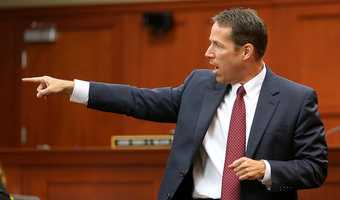 "State opens trial with the F wordIn the beginning of opening statements, state attorney John Guy caught the entire courtroom off guard by quoting George Zimmerman's 911 call. He said ""(Expletive) punks. These (expletives) always get away,"" and continued by saying ""pardon my language, but it was his words, not mine."""