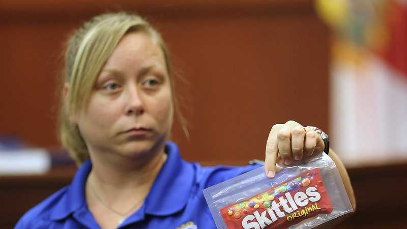 "Crime scene tech says she tested gun, Skittles, iced tea for DNACrime scene technician Diana Smith says she tested for DNA after the shooting, and Zimmerman's gun did not show evidence of ""touch DNA"" from Martin. On cross-examination, she said it was possible that touch DNA could be wiped off of an object."