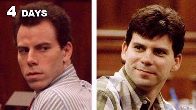 Menendez Brothers: Guilty of murdering their parents.