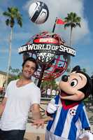 """Actor and """"Dancing with the Stars"""" contestant Gilles Marini visited Disney's ESPN Wide World of Sports Complex on July 24, 2013. A big fan of the sport, Marini played amateur soccer in California while continuing his successful acting career."""